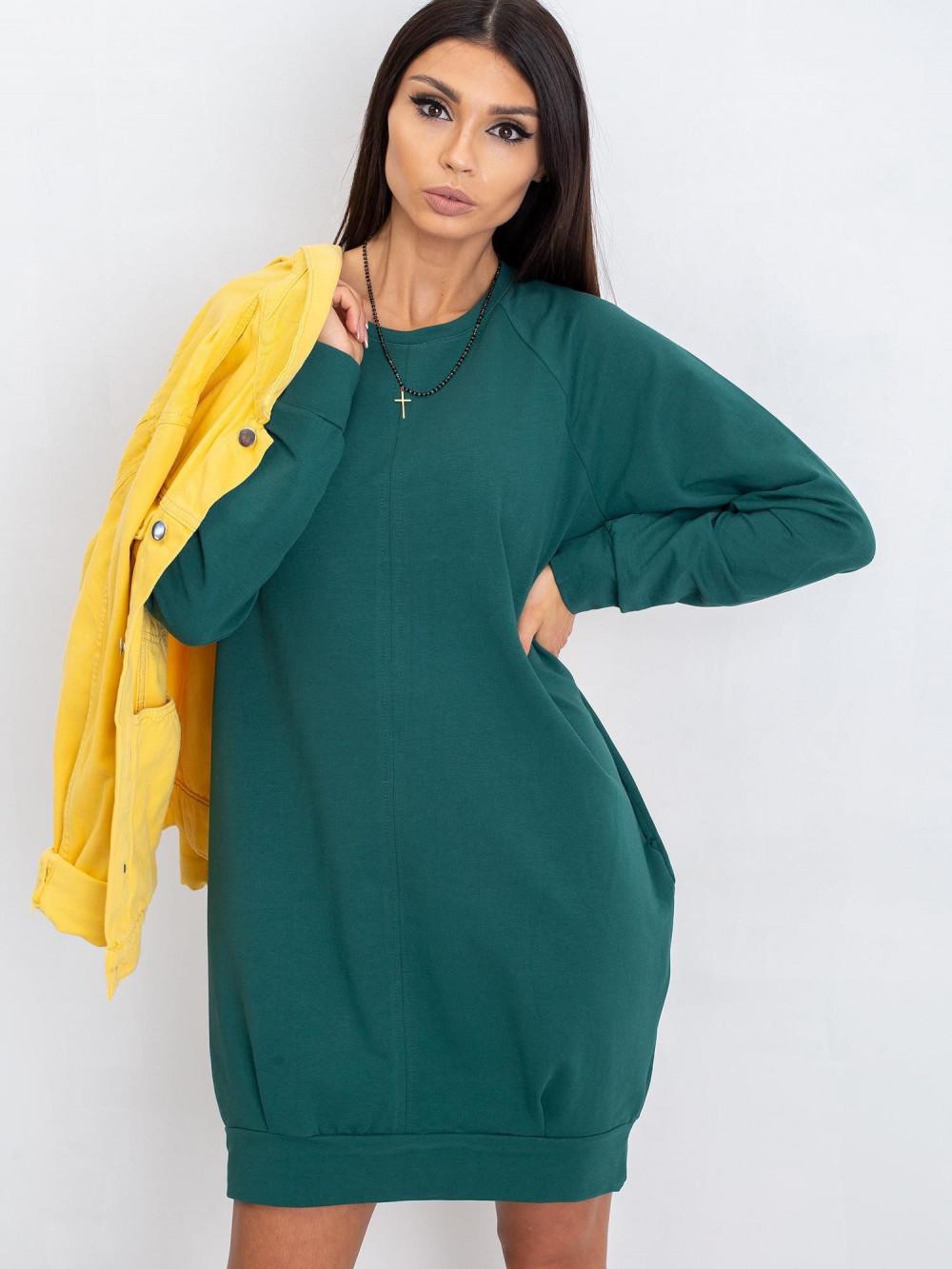 Ciemnozielona sukienka bluza z kieszeniami Glove 5