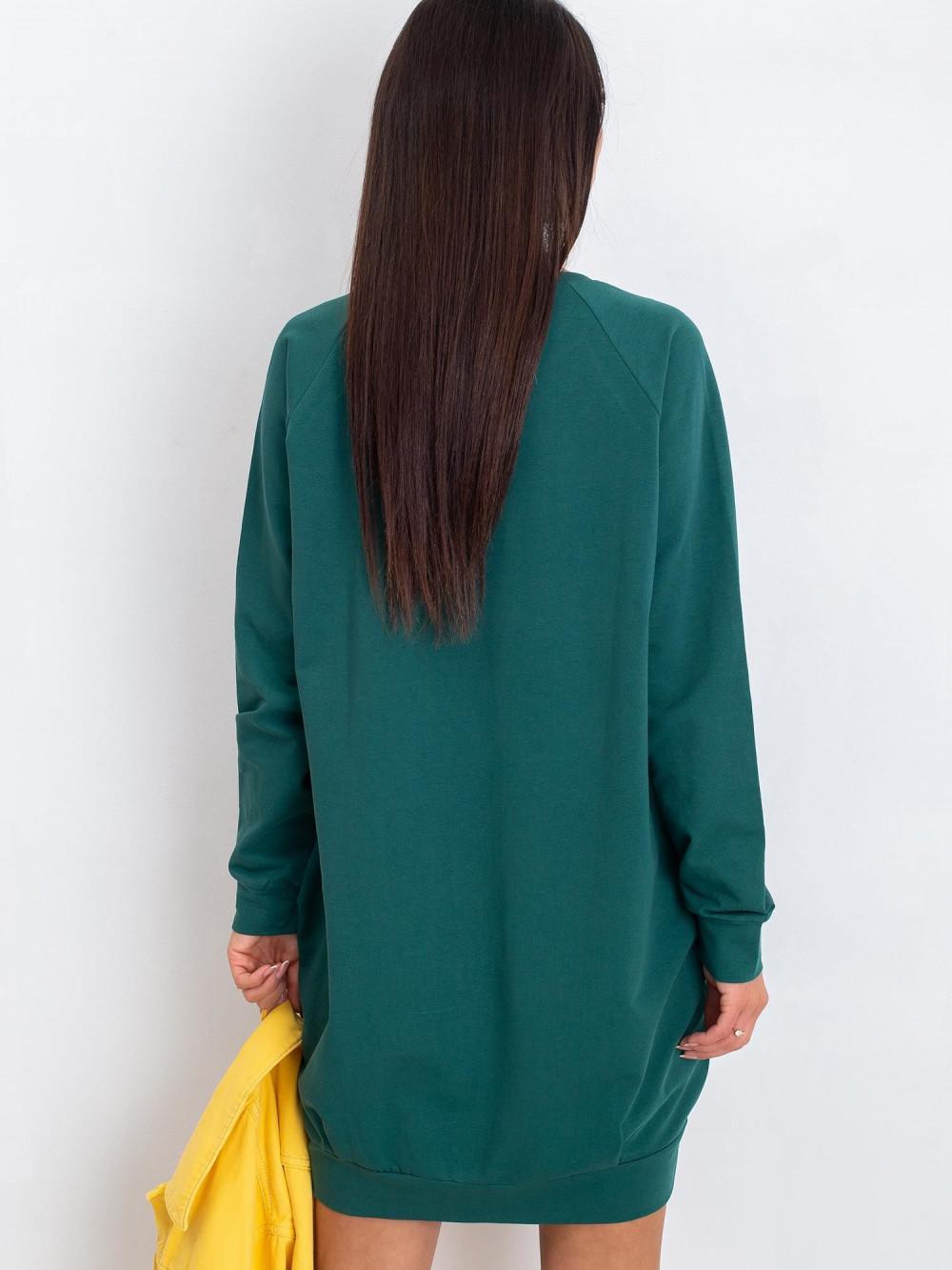 Ciemnozielona sukienka bluza z kieszeniami Glove 6