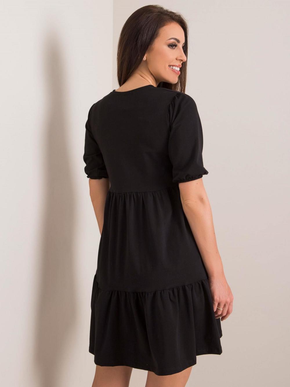 Czarna sukienka rozkloszowana z falbankami Angeles 3