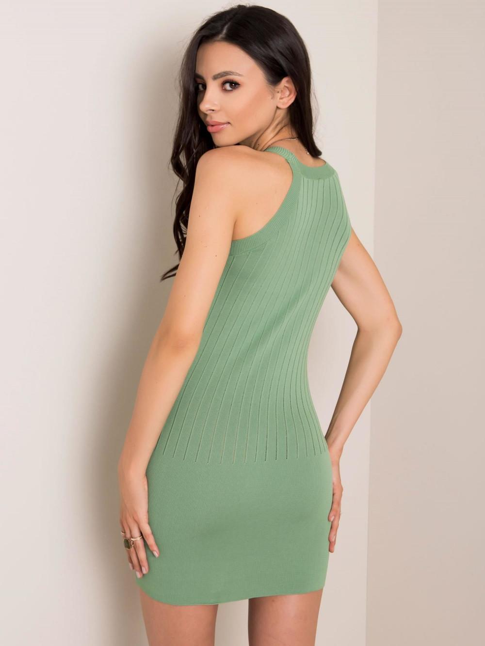 Khaki sukienka dopasowana mini Atena 2