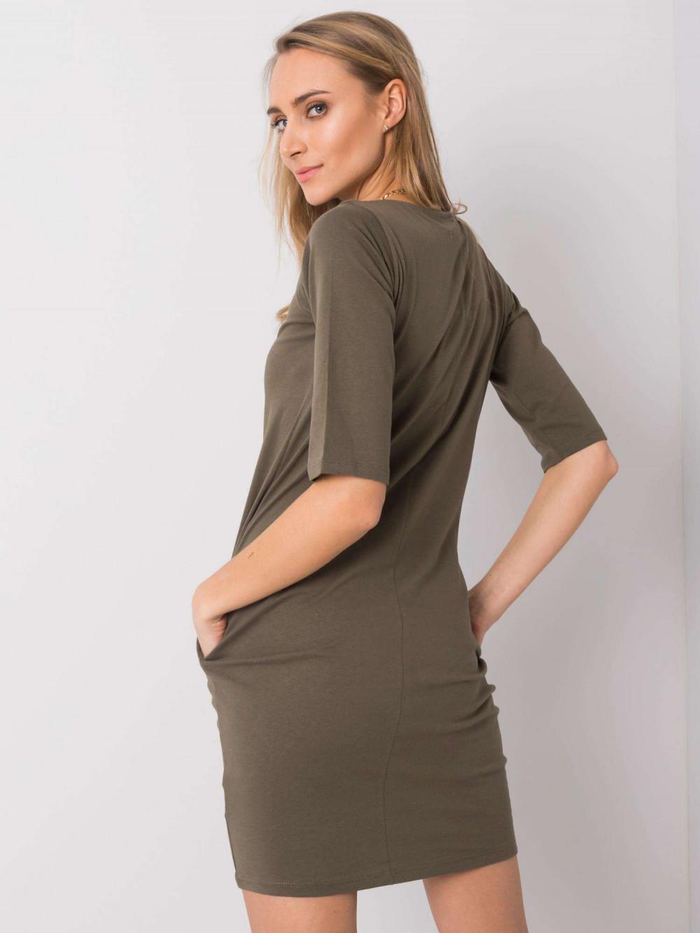 Khaki pro-ekologiczna sukienka Laredo 4
