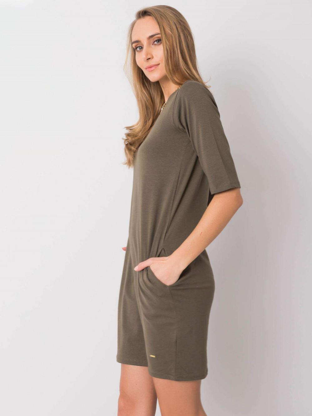 Khaki pro-ekologiczna sukienka Laredo 3