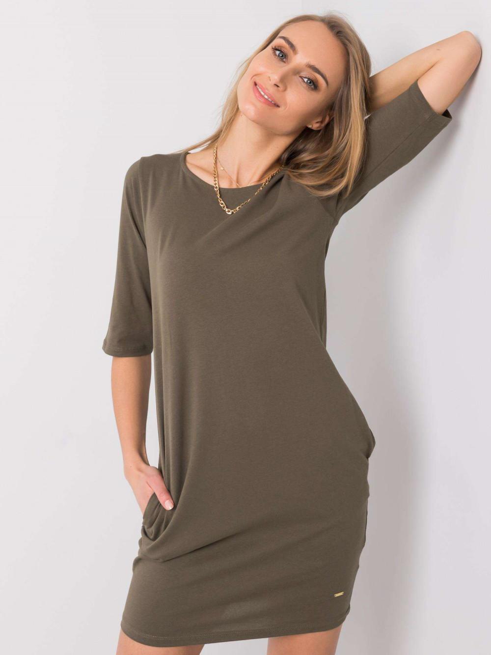 Khaki pro-ekologiczna sukienka Laredo 2