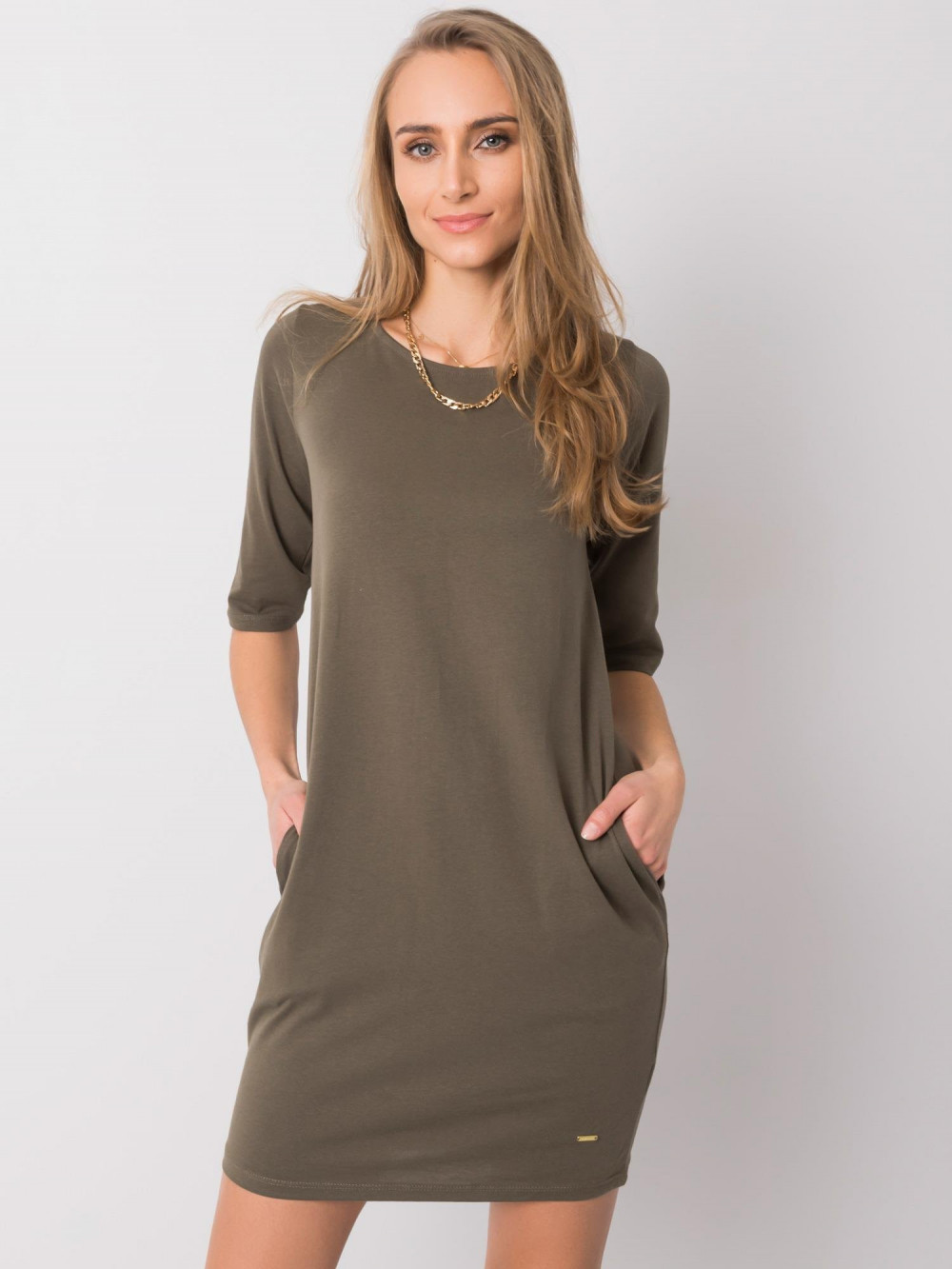 Khaki pro-ekologiczna sukienka Laredo 1