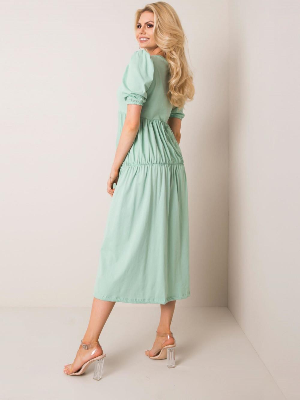 Zielona sukienka z falbankami midi Everett 2