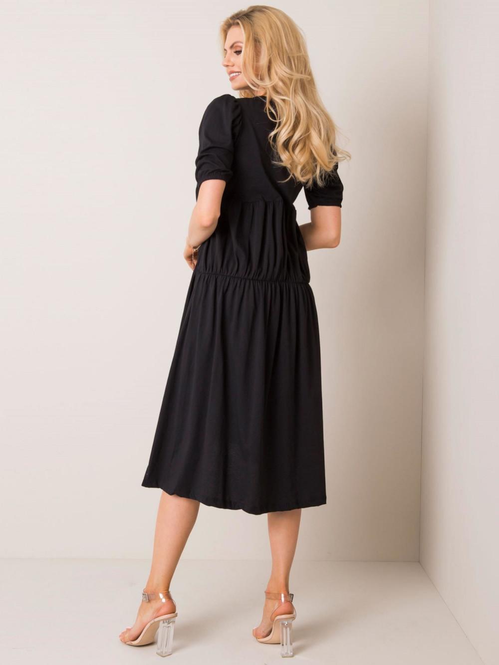 Czarna sukienka z falbankami midi Everett 2