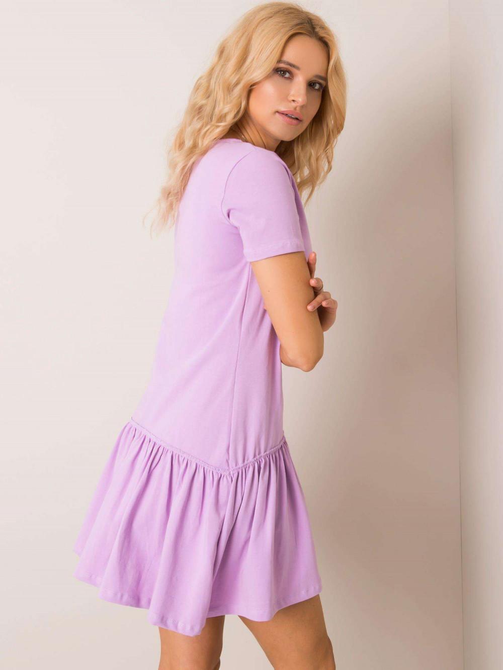 Fioletowa sukienka z falbanką Tulsa 2
