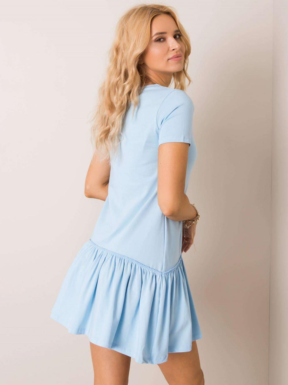 Jasnoniebieska sukienka z falbanką Tulsa 2