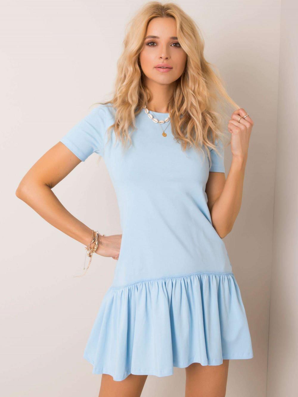 Jasnoniebieska sukienka z falbanką Tulsa 1