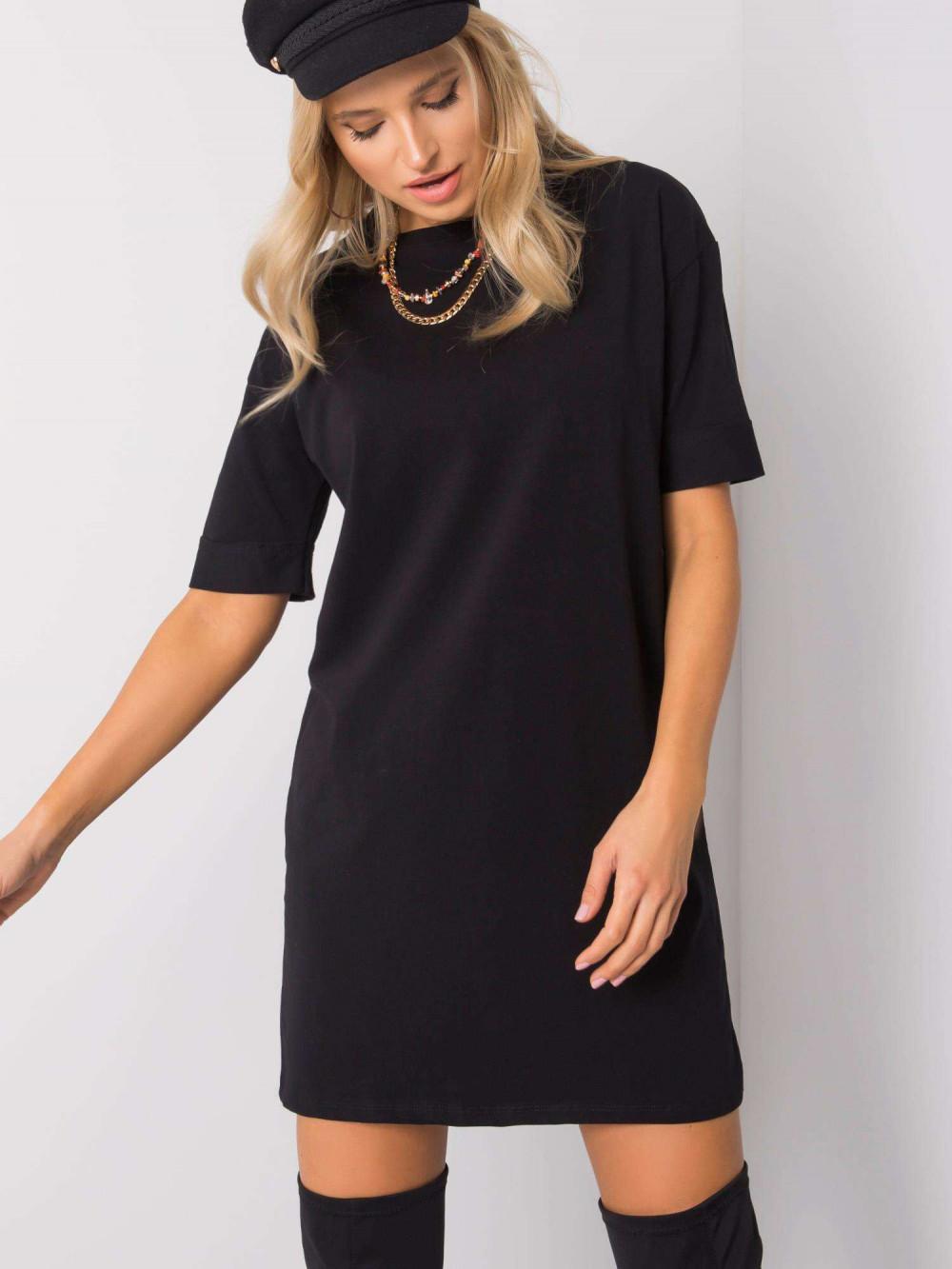 Czarna sukienka t-shirt Celano 4