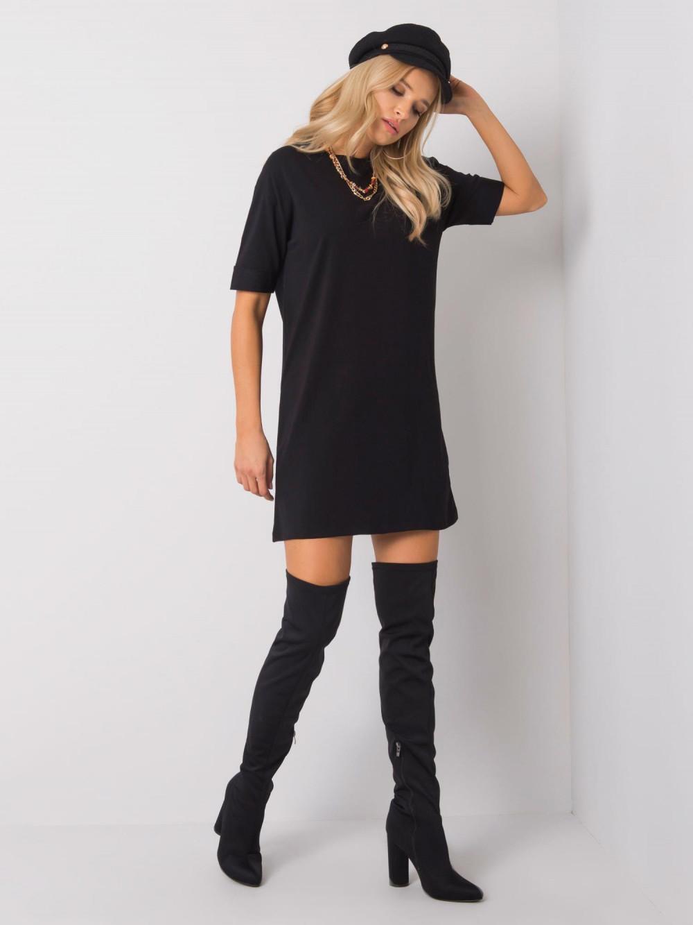 Czarna sukienka t-shirt Celano 6
