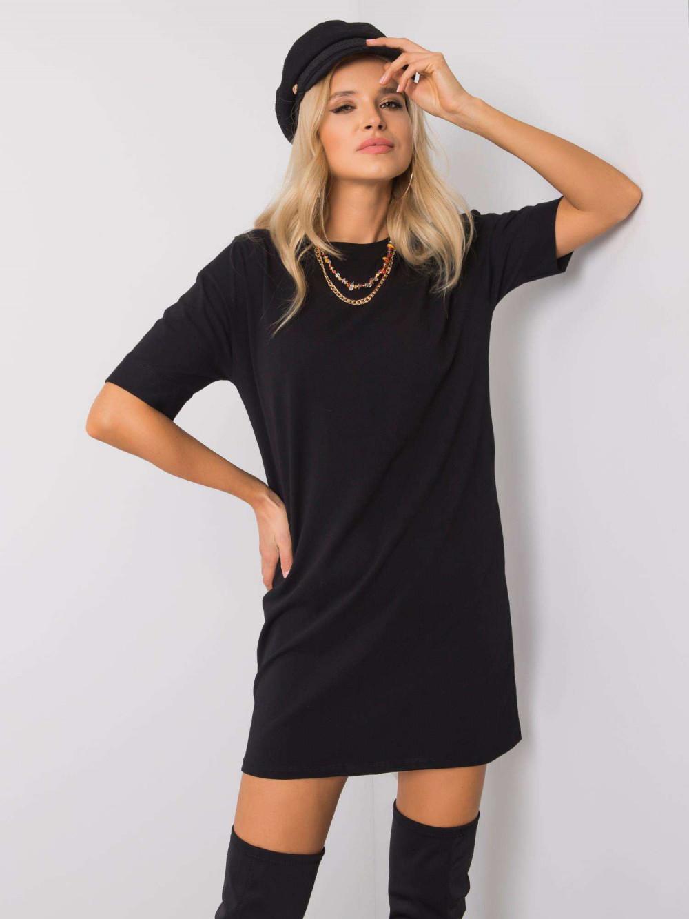Czarna sukienka t-shirt Celano 1