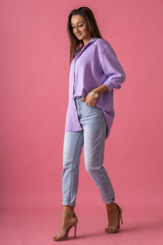 Fioletowa koszula damska Serica 2