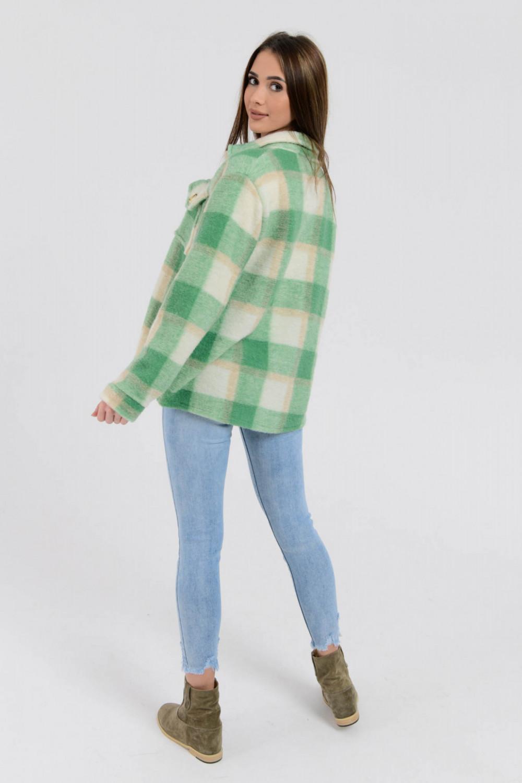 Zielona koszula płaszczyk w kratkę Paront 6
