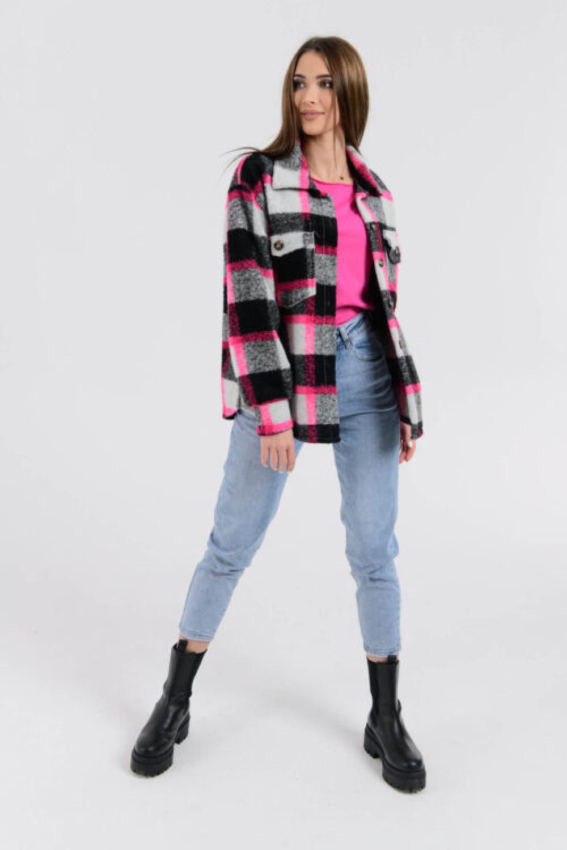 Czarno-różowa koszula z neonowym akcentem Focus 5