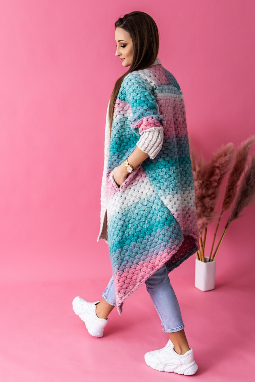 Morski sweter płaszczyk Famous 2
