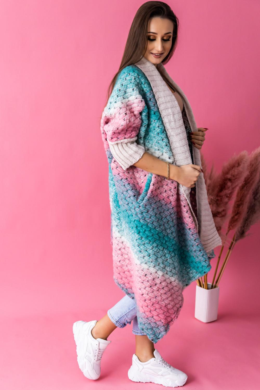 Morski sweter płaszczyk Famous 3