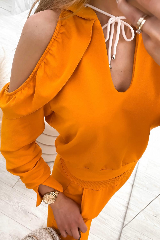 Pomarańczowy komplet dresowy z wycięciami Savage 5