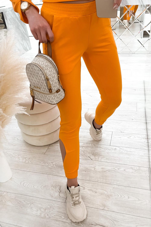 Pomarańczowy komplet dresowy z wycięciami Savage 6