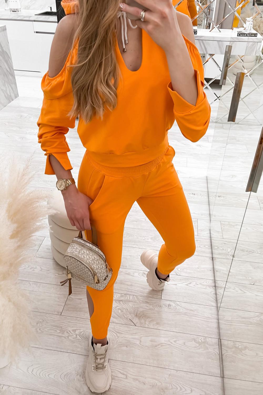 Pomarańczowy komplet dresowy z wycięciami Savage 4