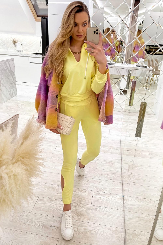 Żółty komplet dresowy z wycięciami Savage 2