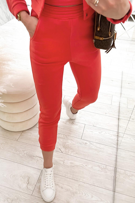 Czerwony trzyczęściowy komplet damski Fansy 6