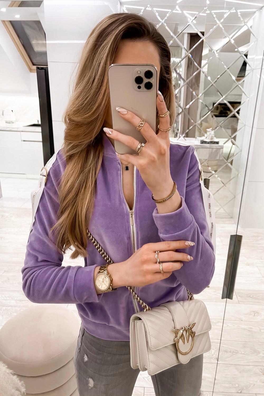 Liliowa bluza miękka rozpinana Klara 1