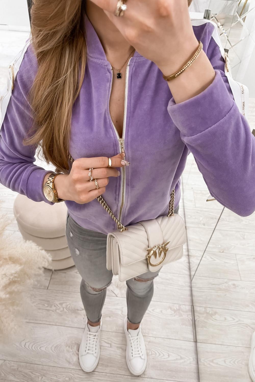 Liliowa bluza miękka rozpinana Klara 5