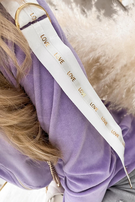 Liliowa bluza miękka rozpinana Klara 2