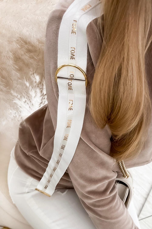 Beżowa bluza miękka rozpinana Klara 2