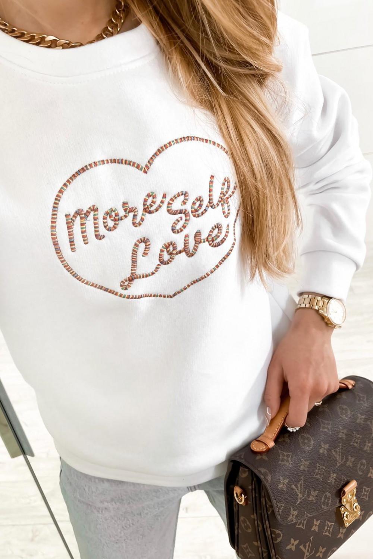 Biała bluza z haftem Self Love 2
