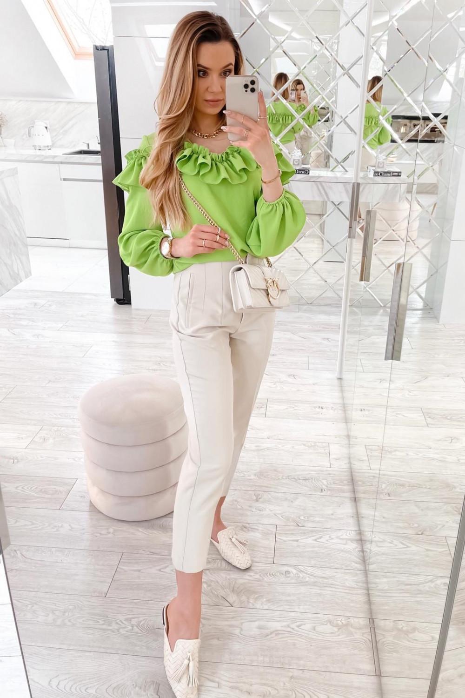 Zielona bluzka hiszpanka z falbankami Noami 3