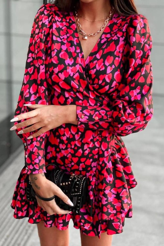 Różowa sukienka rozkloszowana w serca Lovely 5