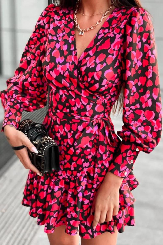 Różowa sukienka rozkloszowana w serca Lovely 6