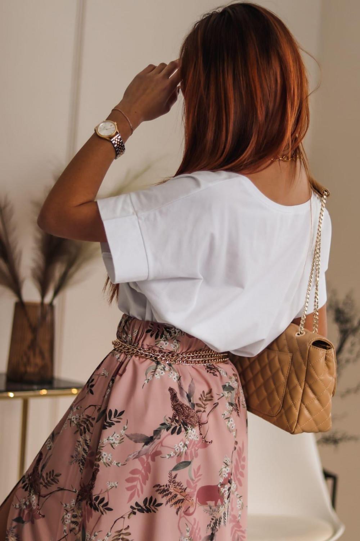 Biały t-shirt oversize V-Neck Athena 3