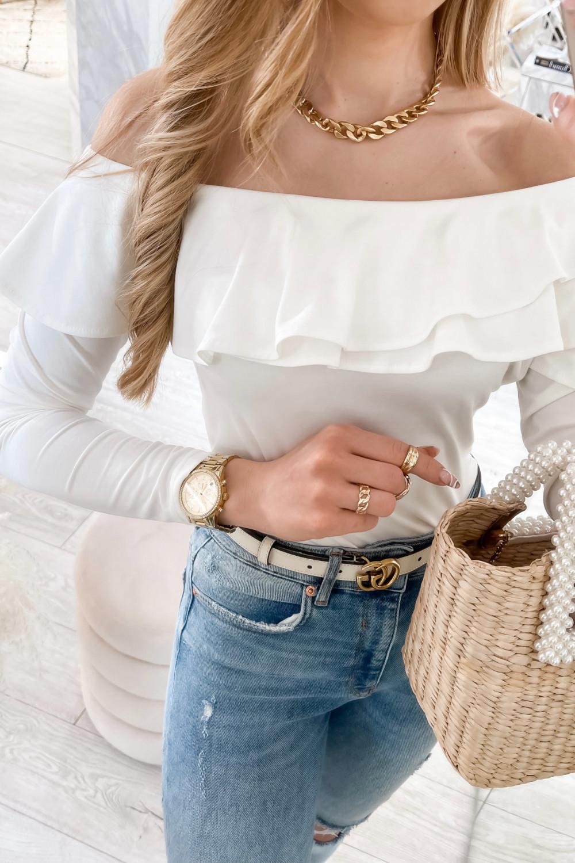 Biała bluzka hiszpanka Massimo 4