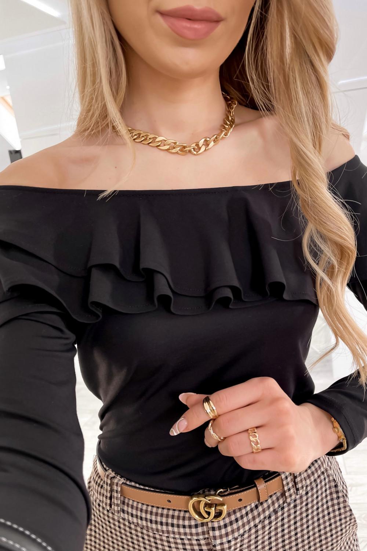 Czarna bluzka hiszpanka Massimo 3