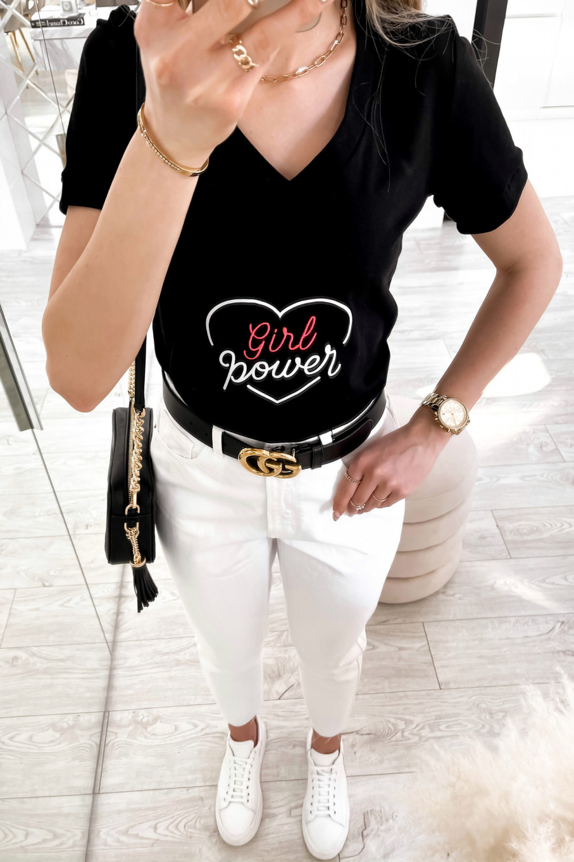 Czarny t-shirt Girl Power 4