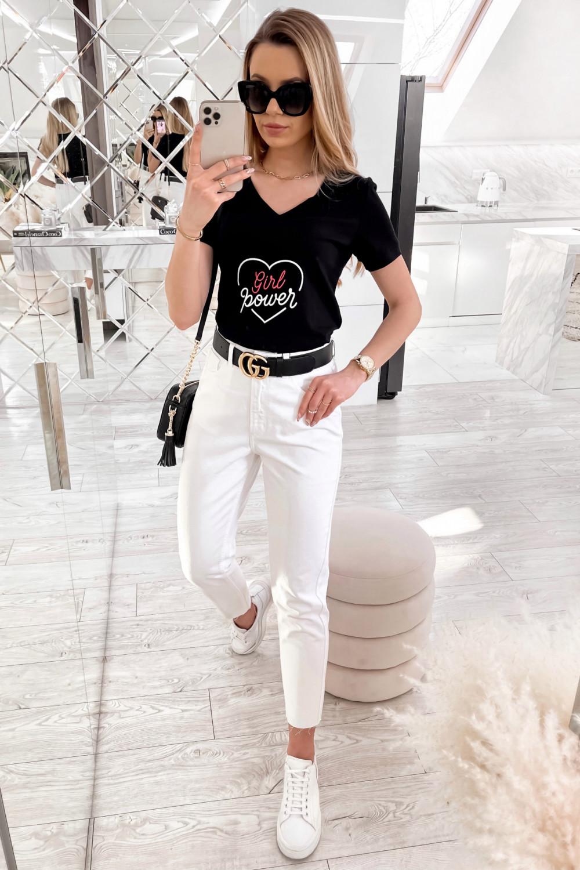 Czarny t-shirt Girl Power 3
