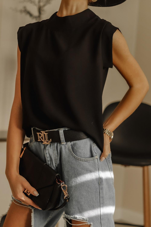 Czarna bluzka ze stójką Gamin 2