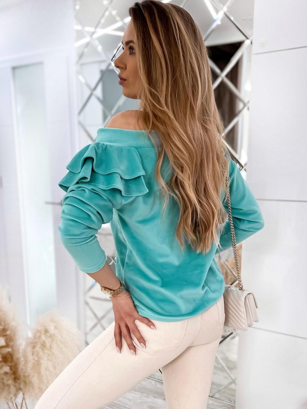 Morska bluza na jedno ramię z falbanami Jasmine 5