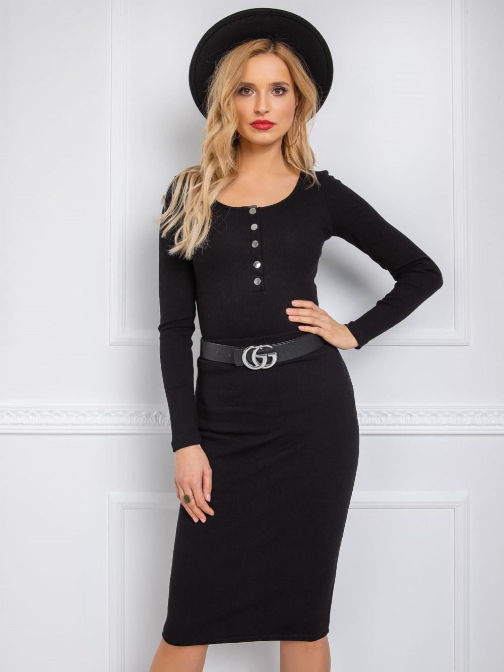 Czarna ołówkowa spódnica damska Katy 1