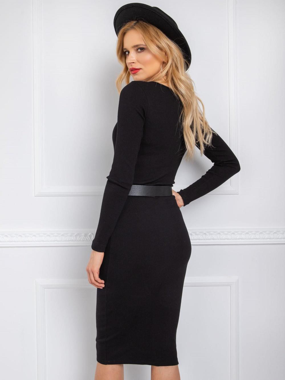 Czarna ołówkowa spódnica damska Katy 2