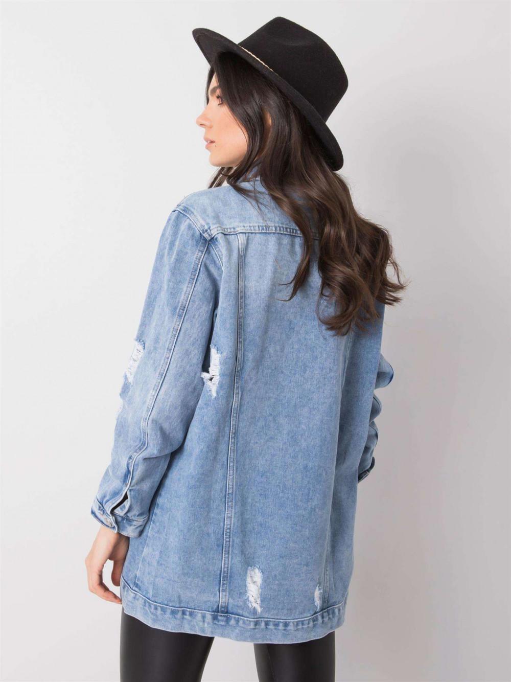 Niebieska kurtka jeansowa z przetarciami Ashley 4