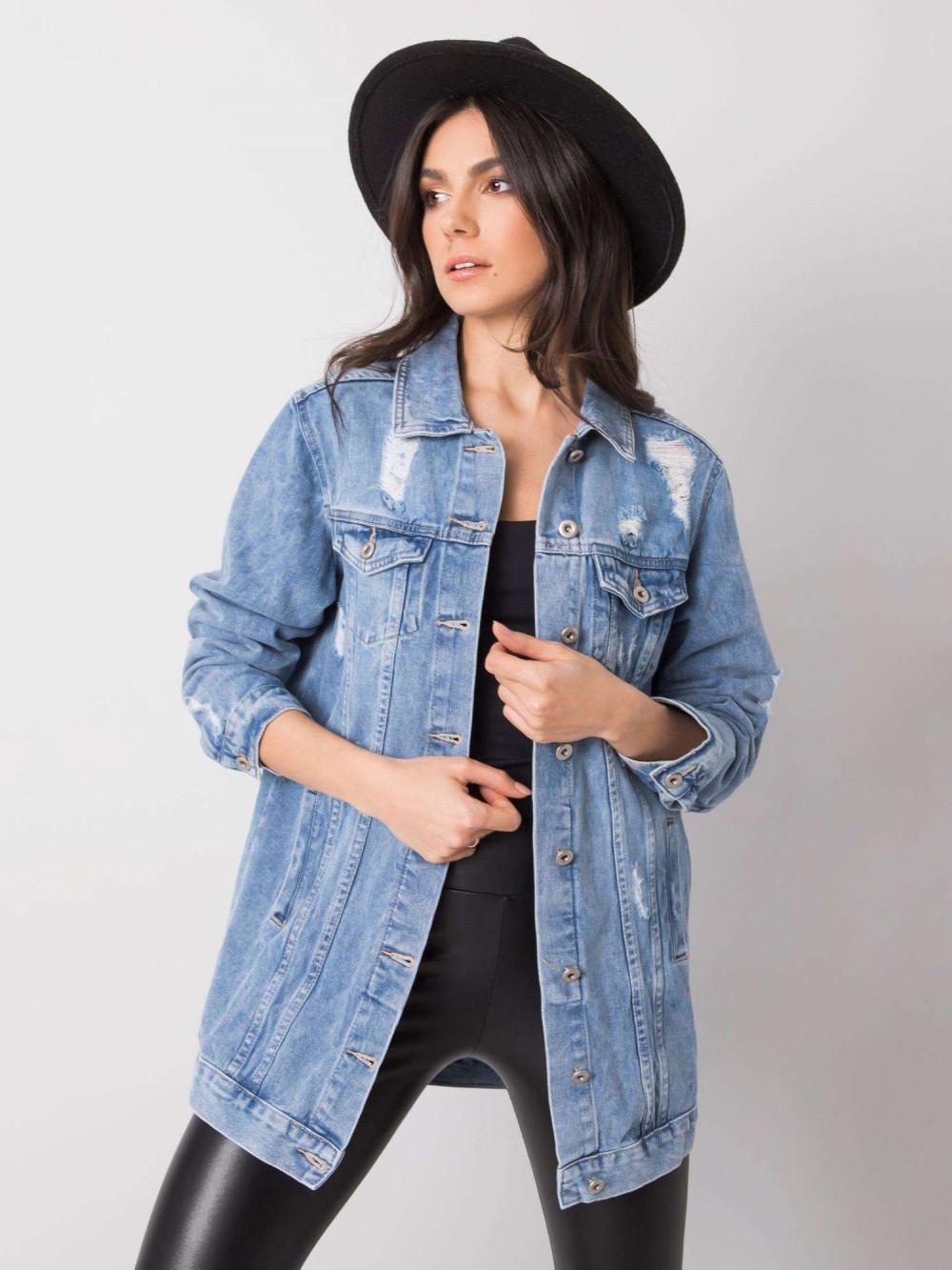 Niebieska kurtka jeansowa z przetarciami Ashley 1