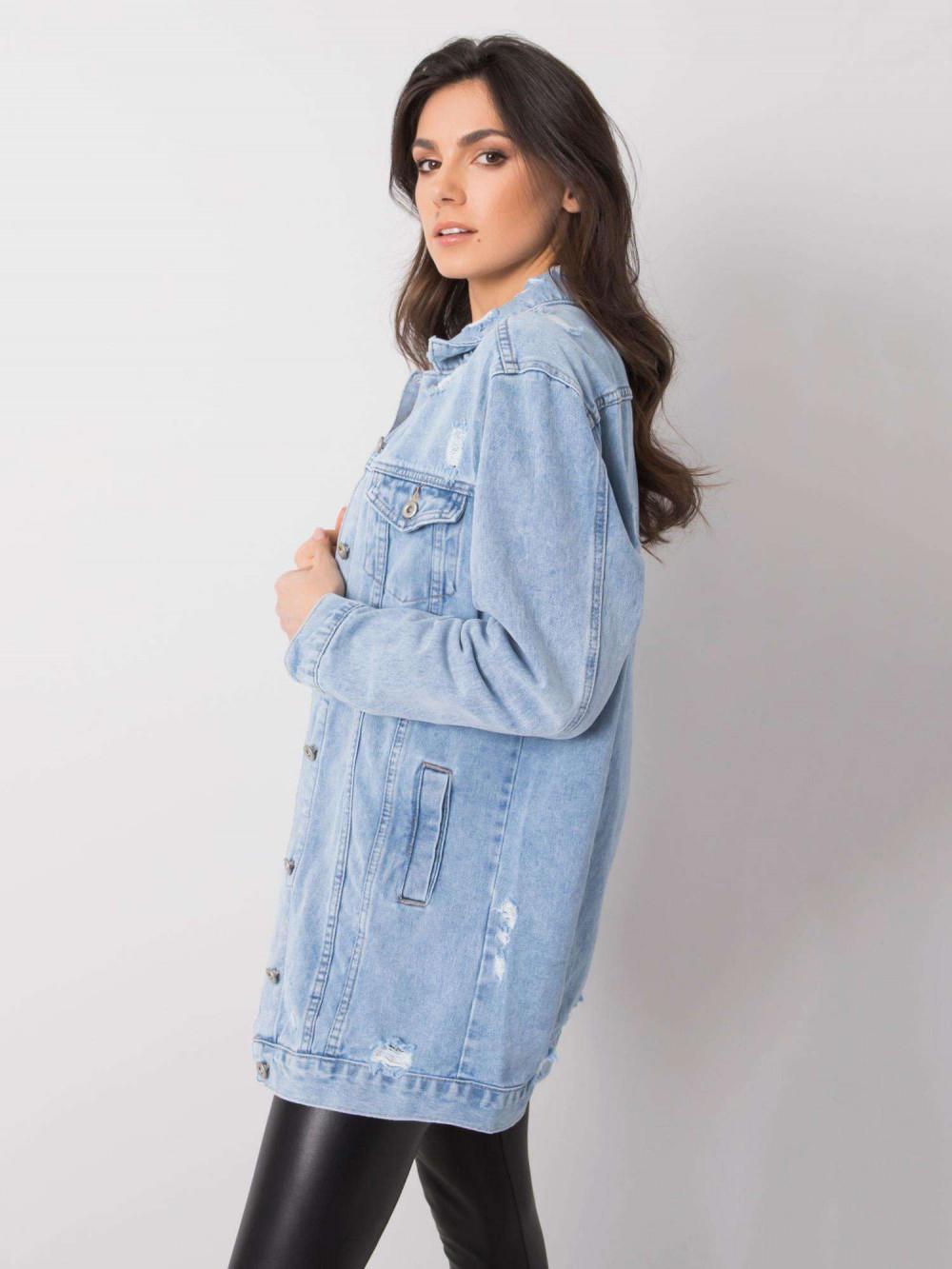 Jasnoniebieska kurtka jeansowa z przetarciami Feise 3