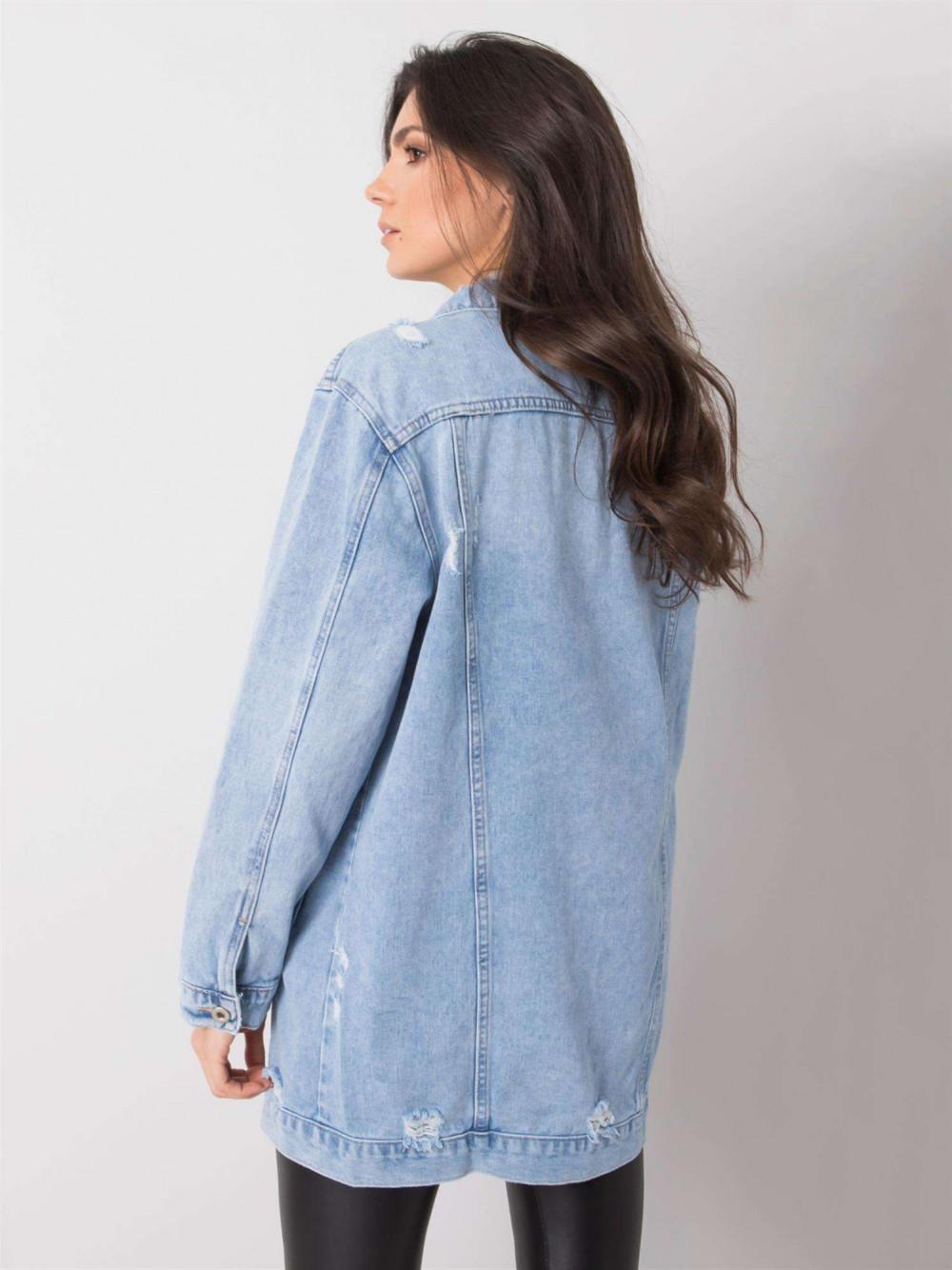 Jasnoniebieska kurtka jeansowa z przetarciami Feise 4