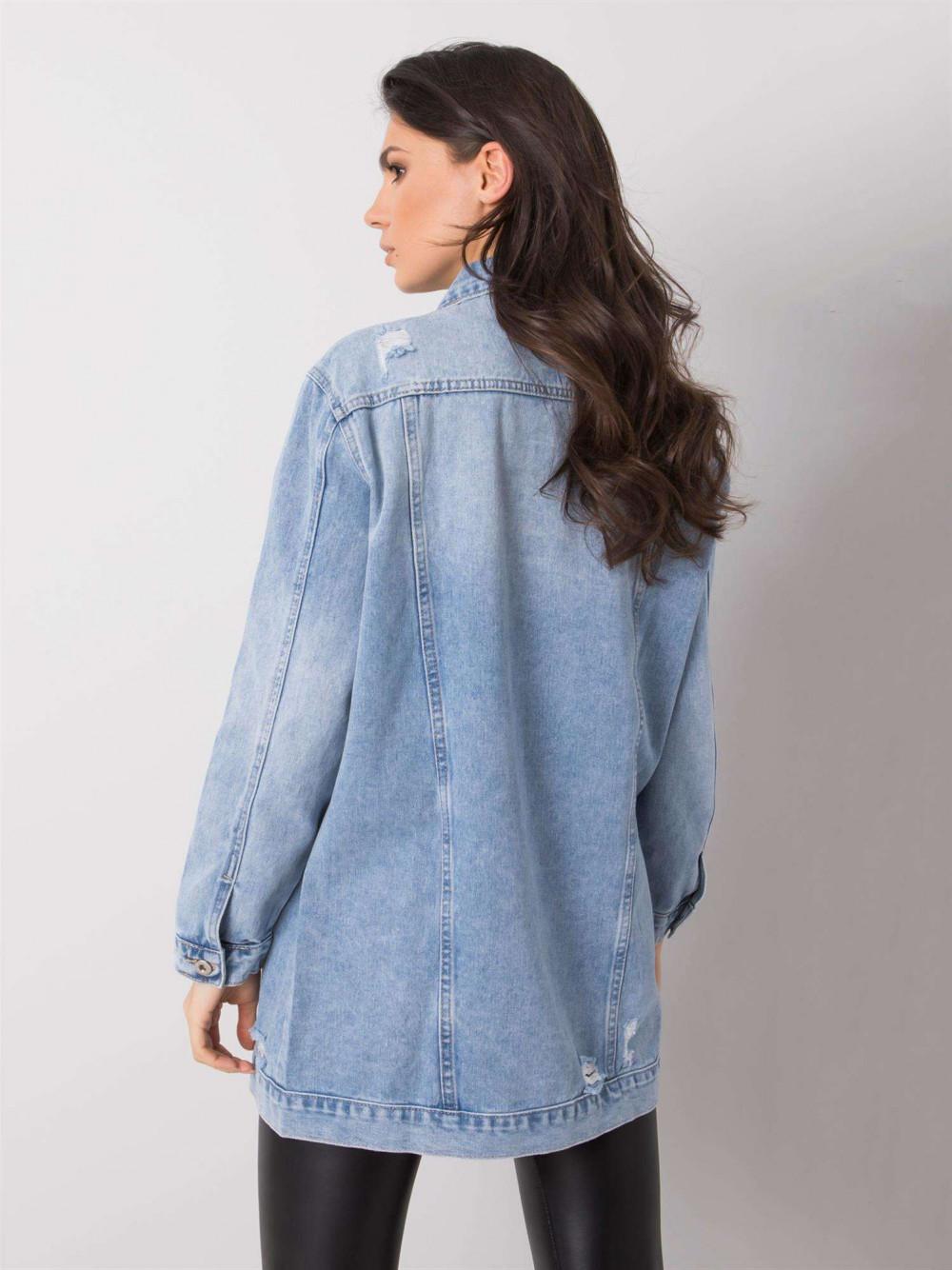 Jasnoniebieska kurtka jeansowa z przetarciami Heily 4