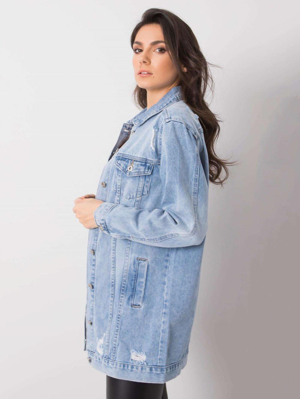 Jasnoniebieska kurtka jeansowa z przetarciami Heily 3