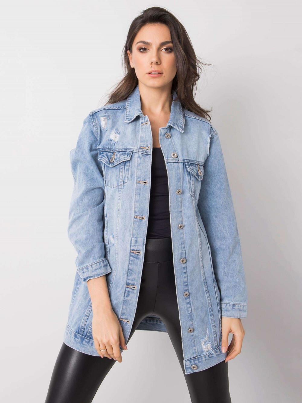 Jasnoniebieska kurtka jeansowa z przetarciami Heily 2